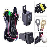 H11 Fog Light Wiring Harness Sockets Wire LED indicators Switch 12V 40A Relay