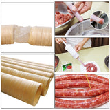 26mm*14m Roast Sausage Dried Sausage Skin Sausage Hot Dog Collagen Casing Shell Collagen Protein Casings Sausage Ham Tools