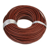 Exweup 1m/lot 6mm Braided Leather Cord Rope Fit Necklaces Bracelets Findings Leather Thread DIY Jewelry Making