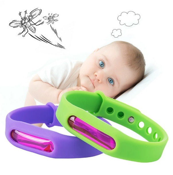 Environmentally friendly silicone bracelet colorful summer mosquito repellent safety mosquito bracelet (3PCS)
