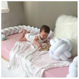 Denmark braid long tie ball hold pillow twist plait children's room anti - collision bed surround decorative bedding