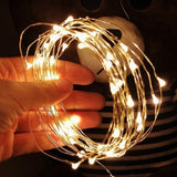 1m/2m/3m/5m/10m Photo Clip Holder LED String Lights for Christmas New Year Party Wedding Home Decoration Fairy Lights(Not Including Battery )
