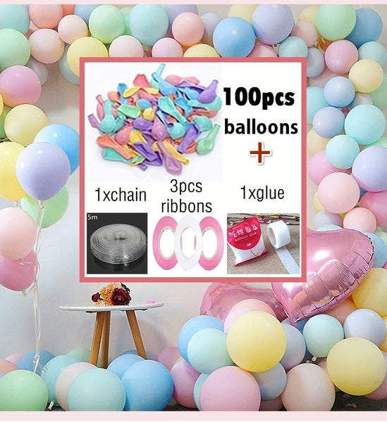 Balloon set Colorful Balloons Birthday Wedding Balloons Party Decoration Air Ball Kids Adult Baby Shower Party Supplies