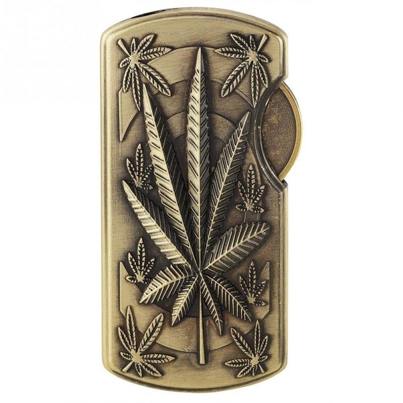 Windproof Bronze Relief Cigarette Lighter Refillable Butane Gas Cigar Lighter