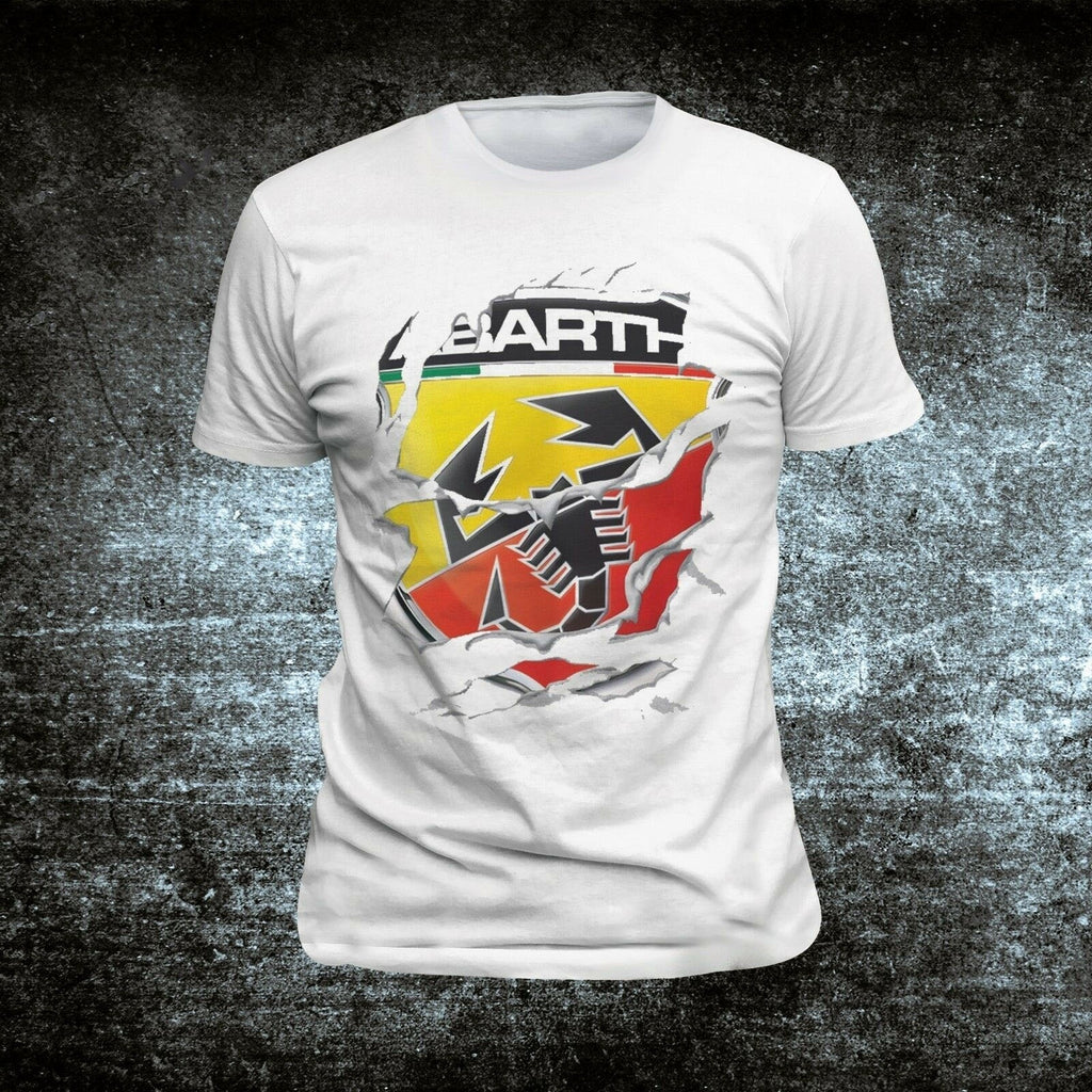 Abarth T Shirt Casual Short Sleeve O-Neck Tshirt For Men