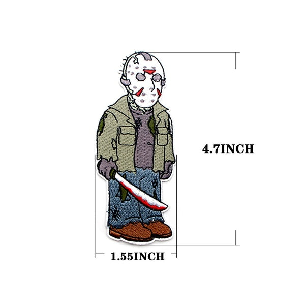1pcs Friday the 13th DIY embroideried patches sew iron on clothes backpack hat home decorations stickers badges