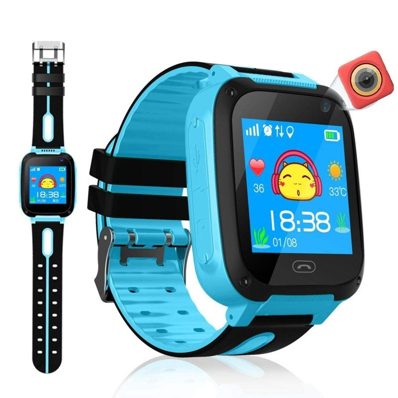 Children's Smart Watch  Anti Lost Child Tracker SOS Smart Monitoring Positioning Call Phone Kids Baby Watch Compatible IOS Android