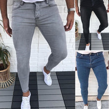 Load image into Gallery viewer, Men's New Fashion Skinny Jeans Denim Long Pant Pencil Jeans for Men Straight Jean Casual Skinny Slim Fit Solid Color Jeans S-3XL