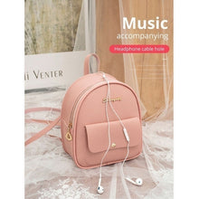 Load image into Gallery viewer, New Women Mini Backpack Women Leather Shoulder Bag Multi-Function Small Bagpack Female Phone Tube  Fashion Women Backpack