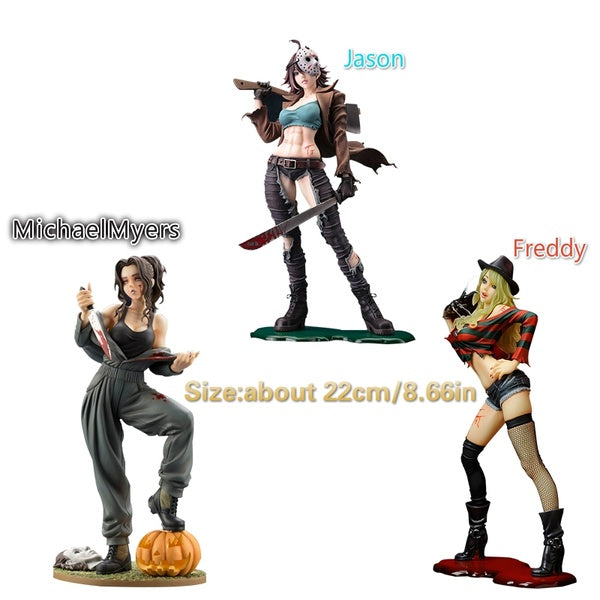 Horror Movies  Freddy  Jason MichaelMyers Horror Bishoujo PVC Action Figure Toys
