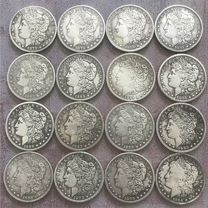 28 PCS US Morgan Coins 1878-1921 All Set Antique Old Liberty Coins Collection