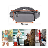 Fashion Couple Models Outdoor Sports Multi-function Waterproof Pockets Men and Women Cashiers Mobile Phone Bag Messenger Chest Bag Running Fitness Bag