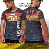 Ramstein Print T-shirt, Greman Fashion Heavy Metal Band Short Sleeves Jersey Top for Adult&kid