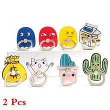 Load image into Gallery viewer, 2Pcs Universal Mobile Phone Cartoon Stand Holder Finger Ring Holder For All Smart Phones