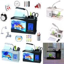 Load image into Gallery viewer, Small Fish Tank Aquarium Lamp Fish Aquarium Aquarium Fish Tank Fish Tank Light MINI Fish Tank Fish Tank Desk Fish Tank Mini Usb Lcd Display Desk Top Fish Tank Desk Top Fish Tank