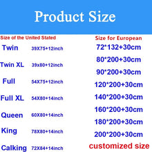 Load image into Gallery viewer, Smooth Waterproof Mattress Protector Cover Anti Mites Mattress Pad Bed Cover Waterproof Bed Sheet Bed Bug Proof Mattress Topper Twin Full Queen King