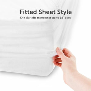 Smooth Waterproof Mattress Protector Cover Anti Mites Mattress Pad Bed Cover Waterproof Bed Sheet Bed Bug Proof Mattress Topper Twin Full Queen King