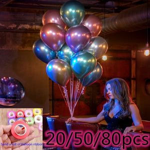 20/50 / 80pcs 10 inch popular metal color latex pearl balloon celebration wedding birthday party decoration balloon holiday decoration balloon