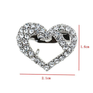 1PC Rhinestone Brooch 10 Styles Crystal Pin Women Wedding Party Simple DIY Jewelry Accessories Gift