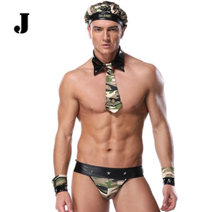 Mens Couple Cosplay Clothing Butler Lingerie Underwear Costumes Clubwear Set