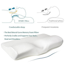 Load image into Gallery viewer, New 50*30CM Slow Rebound Memory Foam Pillow Cervical Contour Pillow for Neck Pain Anti Snore Side Sleepers Pillows with Washable Pillow Case Health Pillow