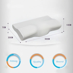 New 50*30CM Slow Rebound Memory Foam Pillow Cervical Contour Pillow for Neck Pain Anti Snore Side Sleepers Pillows with Washable Pillow Case Health Pillow