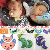 S/L Children Car Seat Belt Cover Shoulder Support Pillow Baby Sleeping Neck Pillows Shoulder Pad Headrest for Kids 6 Colors