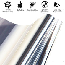 Load image into Gallery viewer, 3Mx50cm / 1Mx50cm Silver /Black Window Tint Film 20% VLT Solar Reflective Window Film One Way Privacy Tint