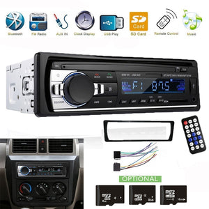 1 Din Car Radio Bluetooth Handsfree Support USB/SD AUX-IN 12V Car Stereo FM Radio MP3 Audio Player 1 Din In-Dash