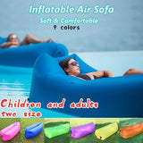 2019 Indoor and Outdoor Waterproof Windproof Inflatable Air Sofa Portable Chair Sleeping Bed for Home Party Beach Camping Travel New Children and Adults