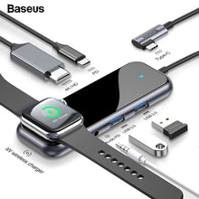 Load image into Gallery viewer, Baseus USB Type C HUB to HDMI RJ45 Multi USB 3.0 USB3.0 Power Adapter For MacBook Pro Air Dock 3 Port USB-C