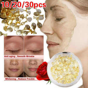 10/20/30pcs EGF Capsule Essence Repair Pure Snail Serum Skin Care Whitening Brighten Anti Freckle Scar Aging Face Body Eyes Essences Moisturizing Smooth Dark Spot Remover Wrinkless Face Care