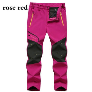 New Both Men Outdoor Waterproof Trousers Hiking Climbing Fishing Skiing Trekking Softshell Fleece Pants Fishing Gear