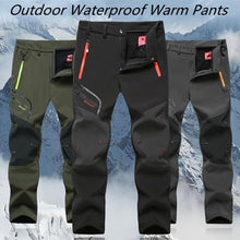 Load image into Gallery viewer, New Both Men Outdoor Waterproof Trousers Hiking Climbing Fishing Skiing Trekking Softshell Fleece Pants Fishing Gear