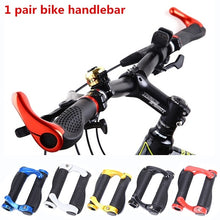 Load image into Gallery viewer, 1 pair Carbon Handlebar Cycling Mountain Bike Lock-on Handlebar Cover Handle Bar End