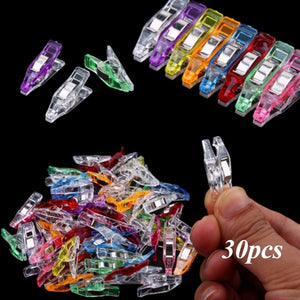 30 Pcs Portable Plastic Quilter Wonder Clips Clamps Fabric Craft Sewing Holder Quilter