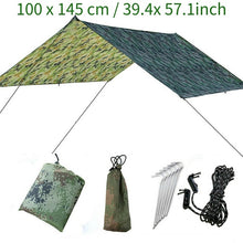 Load image into Gallery viewer, Waterproof Camping Tent Tarp Shelter Hammock Cover Lightweight Rain Fly 100x145CM