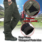 Winter Double Layer Men's Classic Cargo Pants Warm Thick Baggy Pants Cotton Trousers Military Camouflage Tactical Camping Climbing Fishing Skiing Trekking Softshell