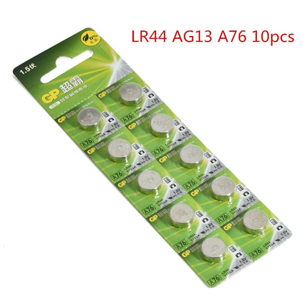 10pcs 1.5V GP LR44 LR41 LR1130 Button Cell Coin Battery Batteries NEW for Watch Camera 3 Types