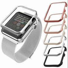 Load image into Gallery viewer, steel bumper Case For Apple Watch band 42mm 38mm 40mm 44mm for iwatch 4 3 2 1 metal frame protective Case