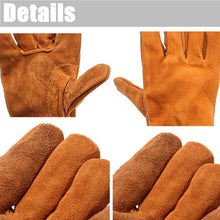 Load image into Gallery viewer, 1 Pairs Soft Double Anti-plush Cowhide Welding Protective Safe Long Gloves Welding Protective Gear
