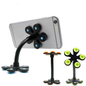 Mobile Phone Desktop Holder Silicone Suction Bracket For Car Table Universal Aluminum Tube Convenience Holder