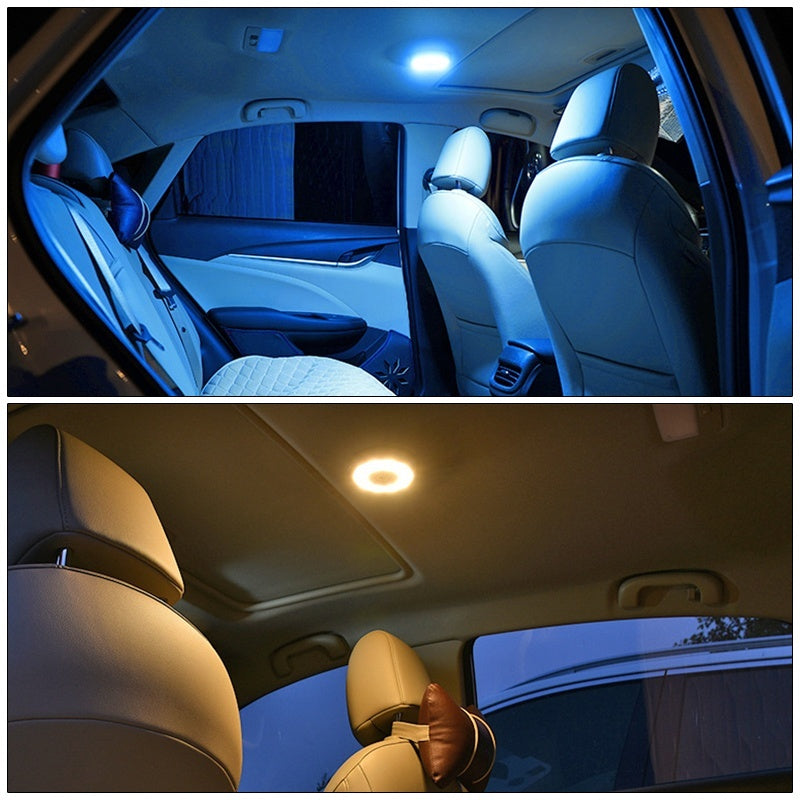 Car Roof LED Lamp Auto Interior Lighting/Night Light USB charging 1pc (2 color optional)