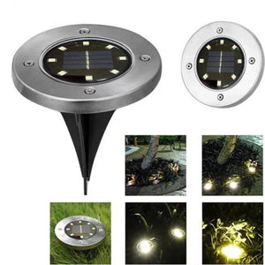 4 LED/8 LED/10 LED Durable Waterproof Garden Decor Ground Lights Solar Power Buried Light Outdoor Lighting Underground Lamps