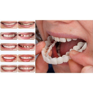 Reusable Adult Snap on Perfect Smile Whitening Denture Fit Flex Cosmetic Teeth Comfortable Veneer Cover Dental Care Accessories