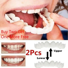Load image into Gallery viewer, Reusable Adult Snap on Perfect Smile Whitening Denture Fit Flex Cosmetic Teeth Comfortable Veneer Cover Dental Care Accessories