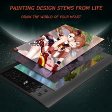 Load image into Gallery viewer, New G10 Digital Tablet 5080LPI Read Resolution Electronic Drawing Board 10x6 Inch Large Screen Hand-painted Board Can Be Connected To Computer Phone 8192 Pressure Sense Writing Board
