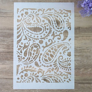 A3 Size DIY Craft Layering Mandala Feather Stencil For Wall Painting Scrapbooking Album Decorative Embossing Paper Card
