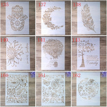 Load image into Gallery viewer, A3 Size DIY Craft Layering Mandala Feather Stencil For Wall Painting Scrapbooking Album Decorative Embossing Paper Card