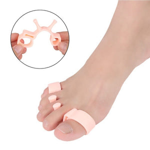 2PCS Foot Toes Separator Multifunctional 5 Holes Toe Corrector Orthopedic Braces Toe Pad Toe Correction Tool
